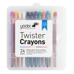 Twister Crayons, 24 Pack - Multicolor