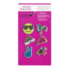 Yoobi-moji Magnets, 6 Pack - Multicolor