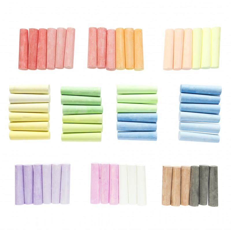 washable sidewalk chalk 60 pack multicolor