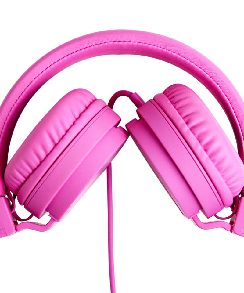 Over Ear Foldable Headphones - Pink