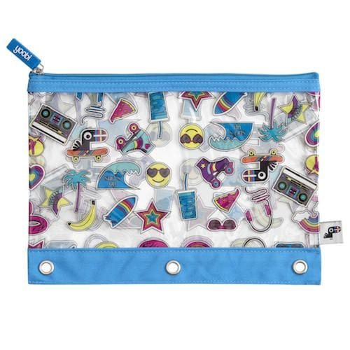 Yoobi-moji Binder Zip Case - Multicolor