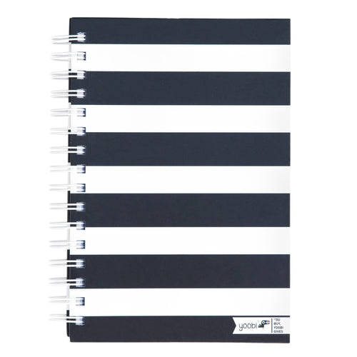 1c2f02ab1 Spiral Notebook - Black and White Stripe