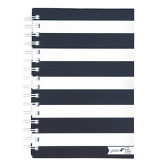 Spiral Notebook - Black and White Stripe