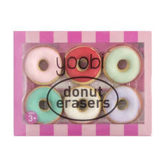 Donut Erasers, 6 Pack - Multicolor