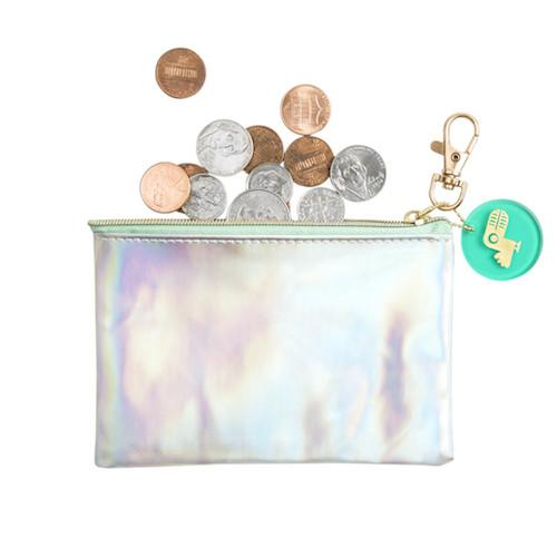 Flat Coin Purse - Holographic