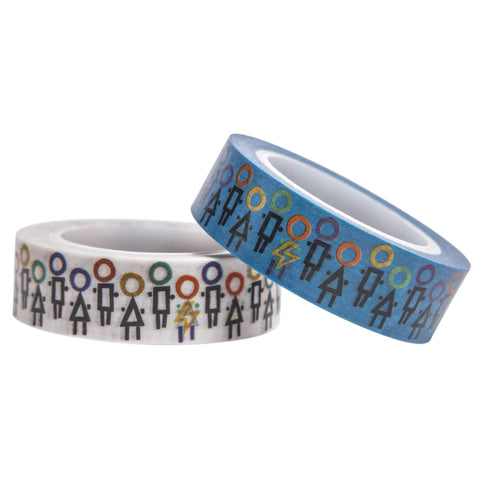 Yoobi x i am OTHER Washi Tape, 2 Pack - Community Print