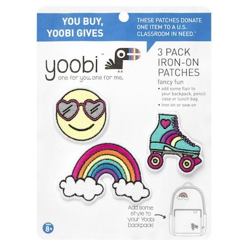 Yoobi-moji Iron-on Patches, 3 pack - Multicolor