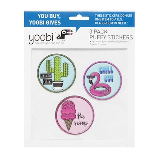 Pool Party Puffy Stickers, 3 Pack - Multicolor