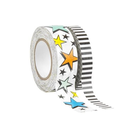 Washi Tape, 2 Pack -  Stars & Stripes
