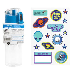 Water Bottle with Sticker Sheet - Blue