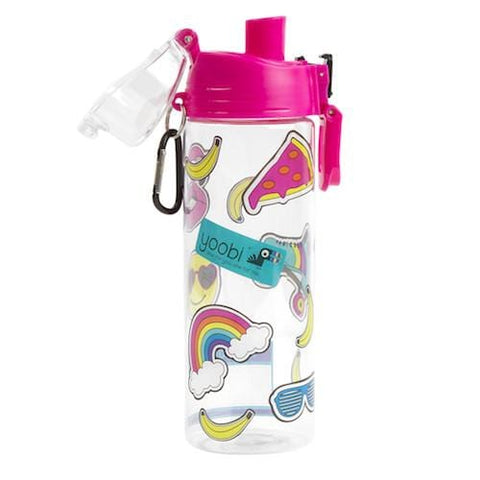 Water Bottle with Sticker Sheet - Pink