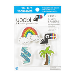 Stay Cool Four Pack Erasers - Multicolor