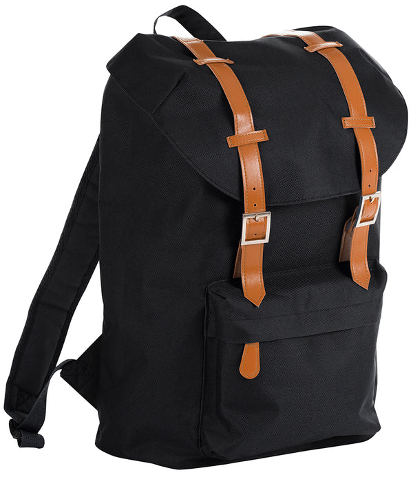 Black Hipster Retro Backpack