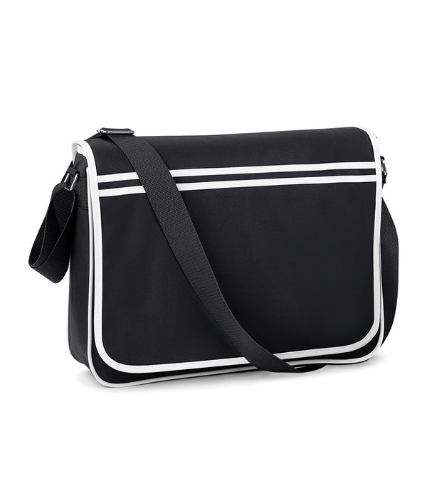 Black Retro Messenger Style Bag