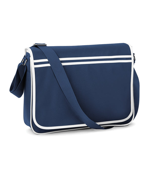 Navy Blue Retro Messenger Style Bag
