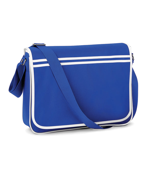 Royal Blue Retro Messenger Style Bag