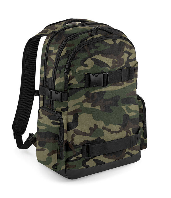 Camouflage Skateboard Backpack