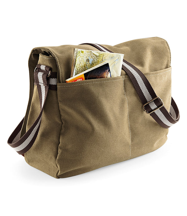 Sahara Vintage Canvas Despatch Messenger Bag back
