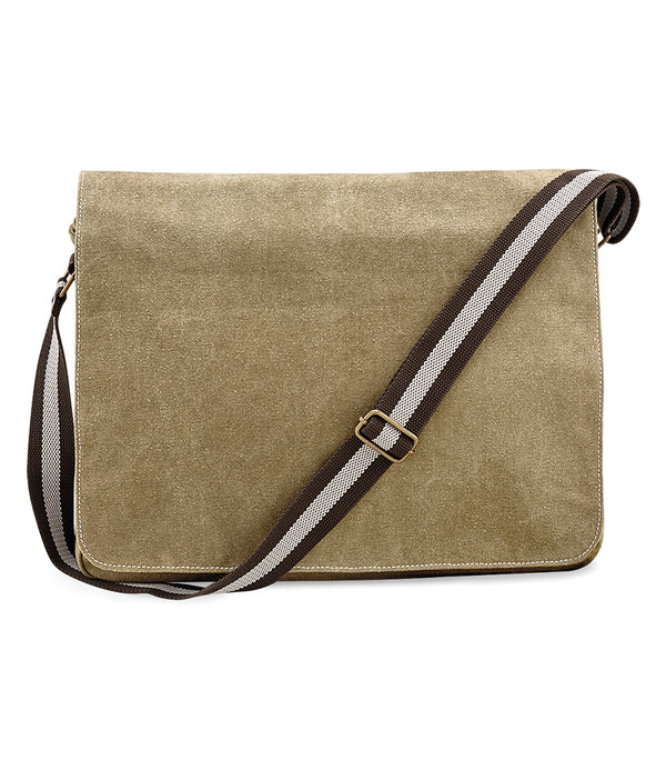 Sahara Vintage Canvas Despatch Messenger Bag front
