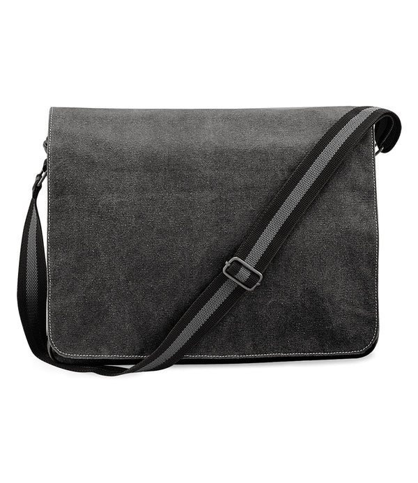 Vintage Black Canvas Despatch Messenger Bag front