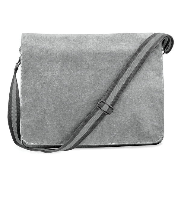 Light Grey Sahara Vintage Canvas Despatch Messenger Bag front
