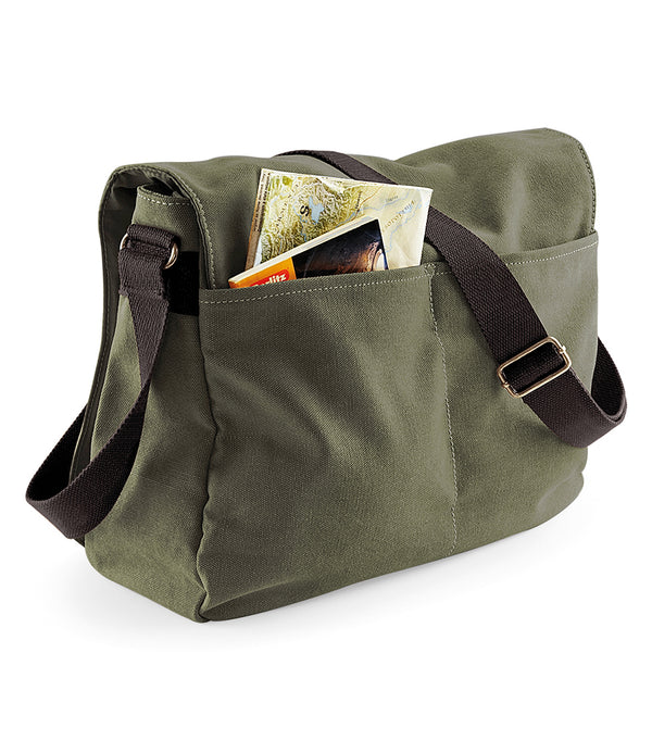 Military Green Vintage Canvas Despatch Messenger Bag