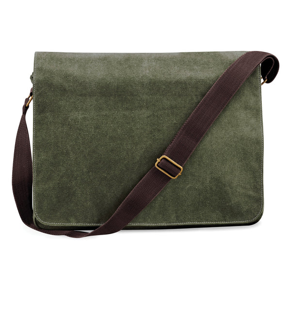 Army Green Vintage Canvas Despatch Messenger Bag