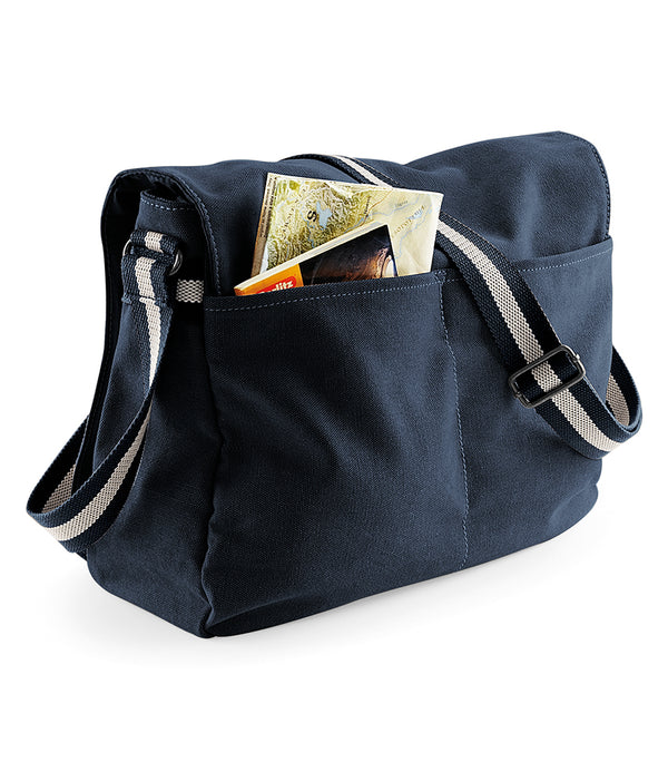 Vintage dark Blue Canvas Despatch Messenger Bag