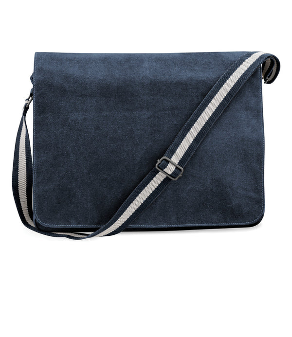 Vintage dark Blue Canvas Despatch Messenger Bag front