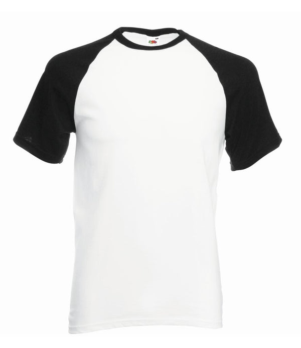 Black and white baseball t-shirt
