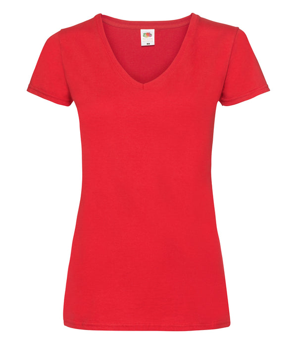 Ladies fit red t-shirt