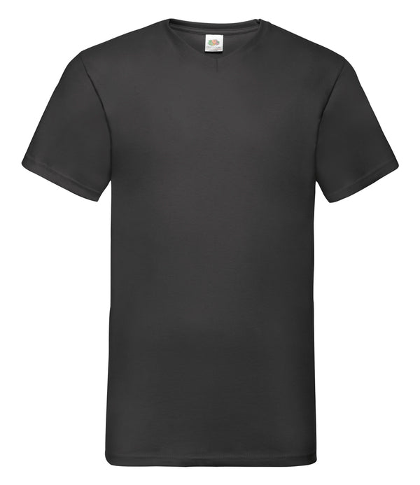 Personalised black v-neck t-shirt