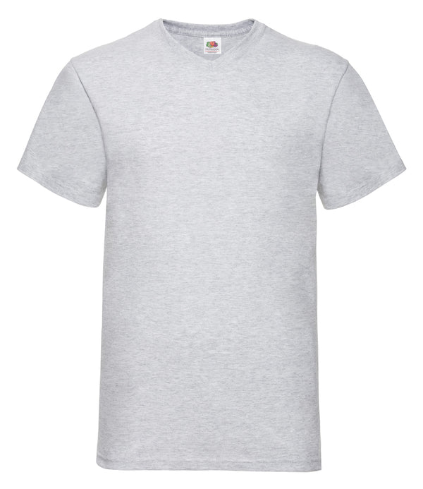 Customised heather grey v-neck t-shirt