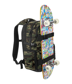 Camo Skateboard Backpack
