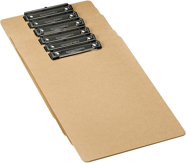 Hardboard Office Clipboard - 6-Pack