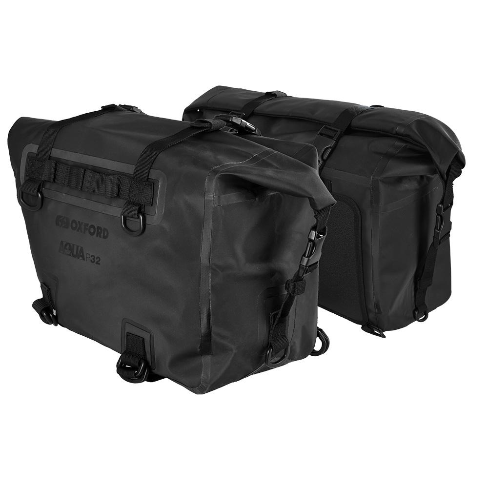 Oxford - Aqua P32 Panniers - Black