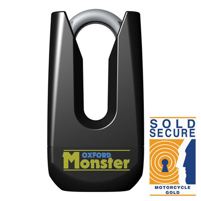 Oxford - Monster Disc lock - Black / Yellow