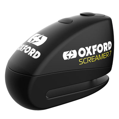 Oxford - Screamer7 Alarm Disc Lock - Black/Black / Yellow/Black