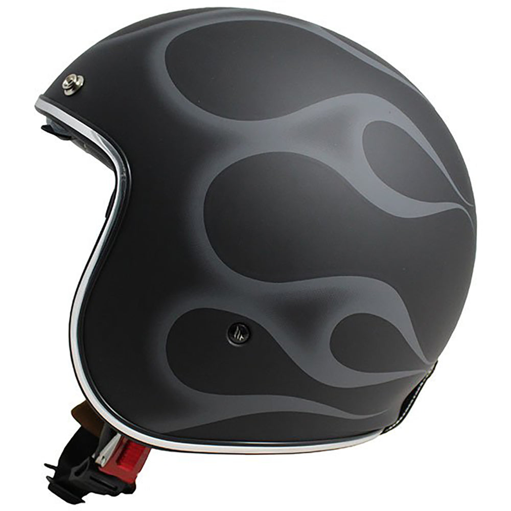 "MT Helmets Le Mans 2 ""Flaming"" Matt Black/Silver"