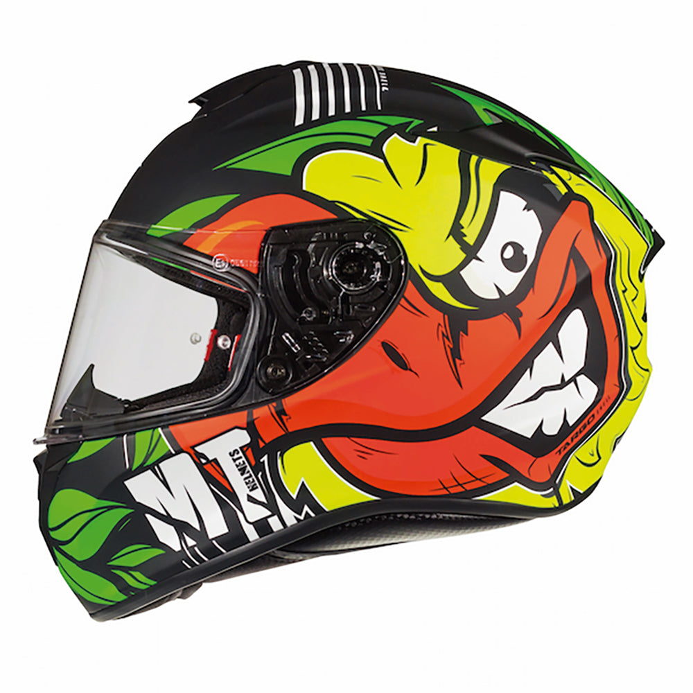 "MT Helmets Targo ""Truck"" Black/Green/Yellow"