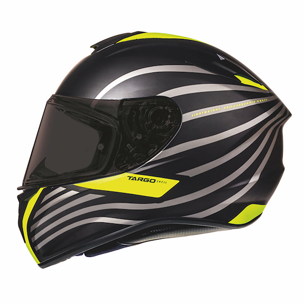 "MT Helmets Targo ""Doppler"" Matt Black/Fluo Yellow"