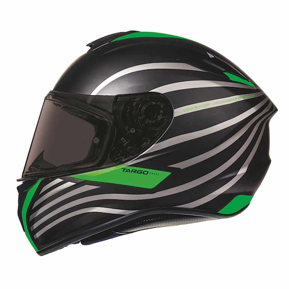 "MT Helmets Targo ""Doppler"" Matt Black/Green"