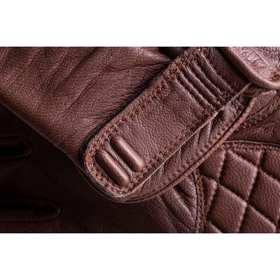 "Indian ""Getaway"" Leather Riding Glove - Brown"