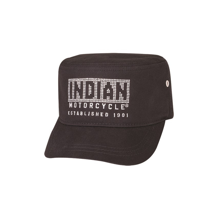 Indian Womens Diamante Cap - Black