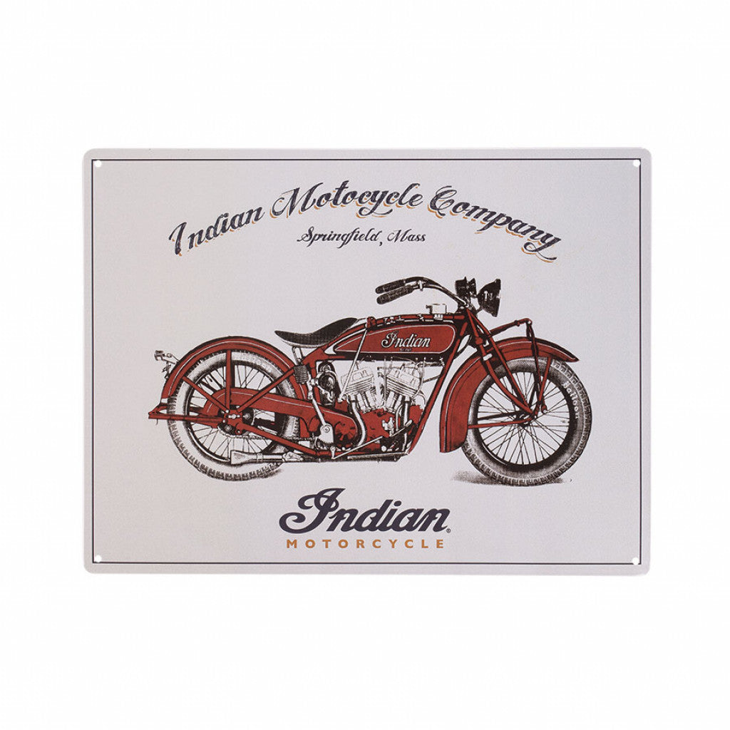 Indian Scout Anniversary Metal Sign