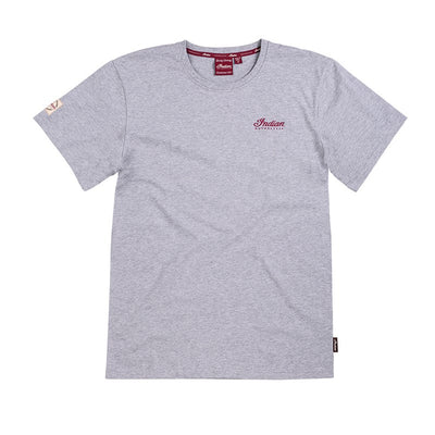 Indian Mens Engine Logo T-Shirt - Gray