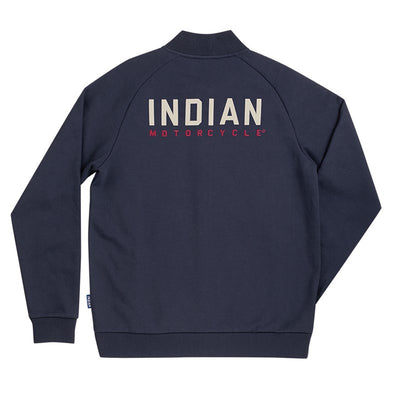 Indian Mens Bomber Sweatshirt Jacket - Navy