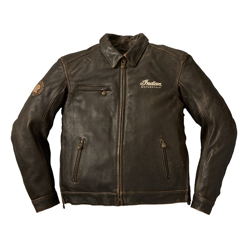 Indian Mens Classic Jacket 2 Leather Jacket - Dark Brown
