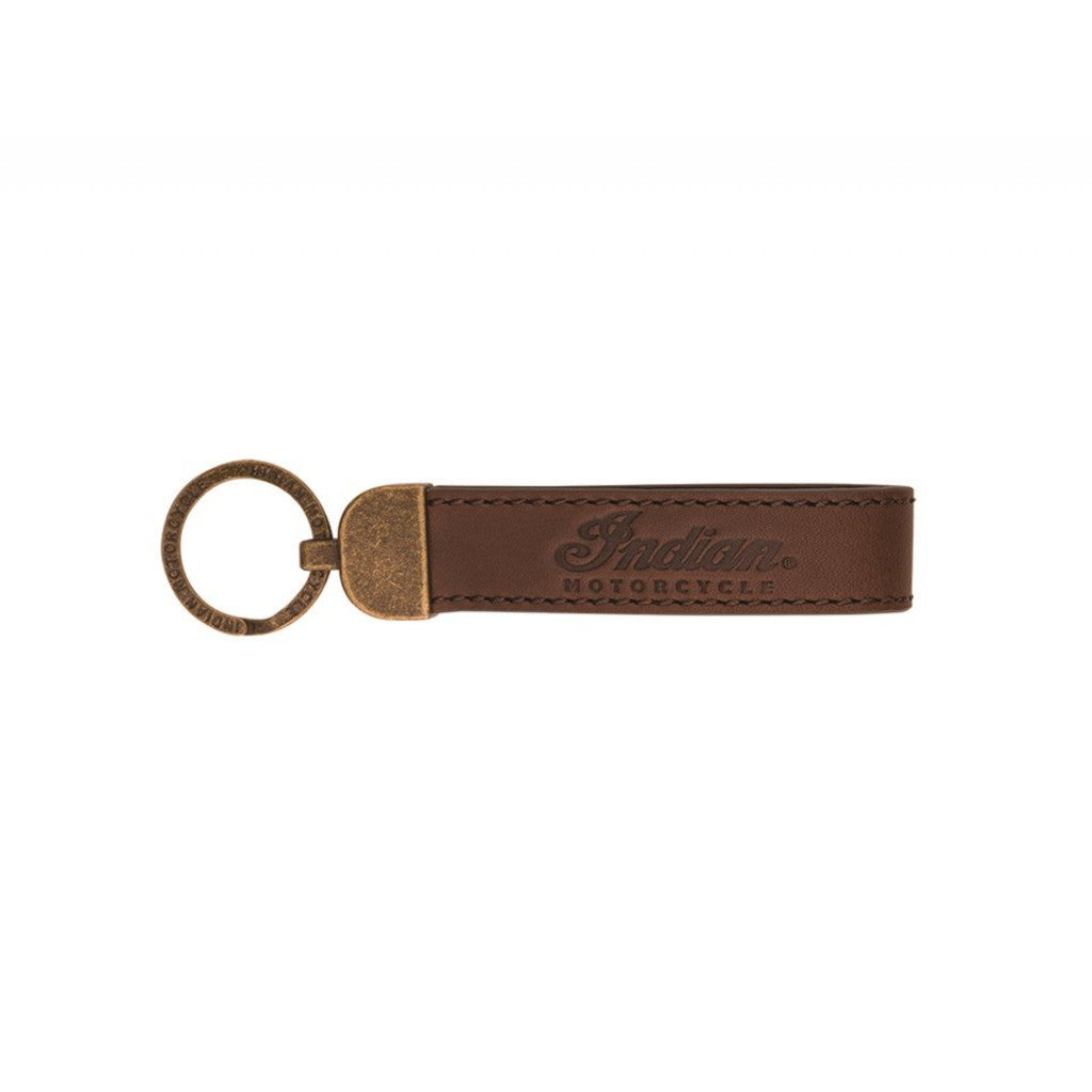 Indian Motorcycles Leather Keyring - Script