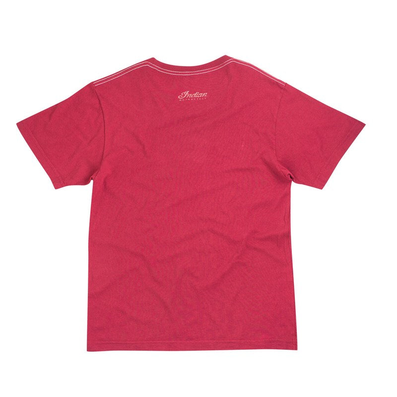 Indian Mens Vintage True Craftsmanship T-Shirt - Red **SALE** Now Only £30